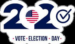 2020 United States Vote Election Day Sticker