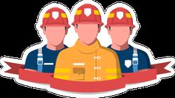 3 Firemen Fire Brigade Sticker
