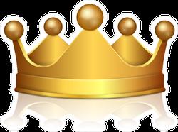 3D Gold Crown Sticker