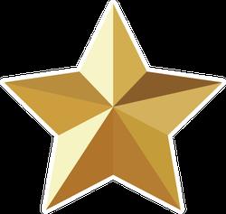 3D Gold Star Sticker
