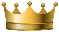 3D Realistic Golden Crown Sticker