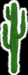 3D Rendering Cactus Sticker
