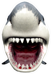 3d Shark Open Mouth Sticker