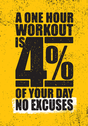 4 Percent Of Your Day Workout Sticker