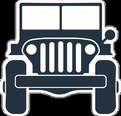 4X4 Jeep Sticker