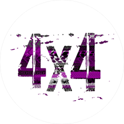 4x4 Purple and Black Stamp Sticker
