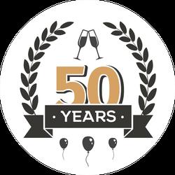 50 Years Vintage Sticker