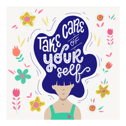 Take Care of Yourself Illustration Sticker