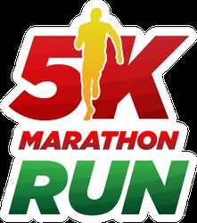 5k Marathon Running Logo