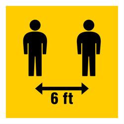 6 Feet Apart Icon Sticker