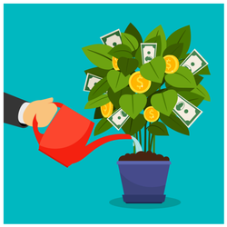 Growing Money Tree Sticker