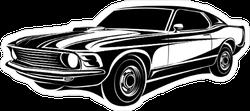 70s Muscle Car Sticker
