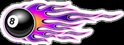 8 Ball Hot Rod flames Sticker