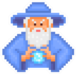 8-Bit Pixel Wizard Sticker