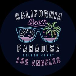 80's Style California Beach Paradise Sticker