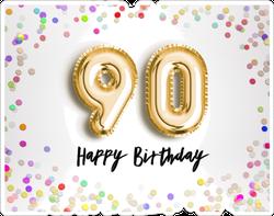 90th Birthday Celebration Sticker