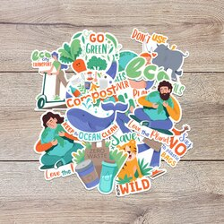 Earth Day Sticker Bundle