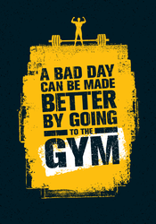 A Bad Day Can Be Made Better By Going To The Gym Sticker