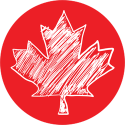 A Canadian Maple Leaf Scribble Doodle Sticker
