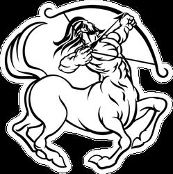 A Circular Sagittarius Archer Centaur Sticker