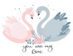 A Couple Of Lovers ' Swans You Are My Love Sticker