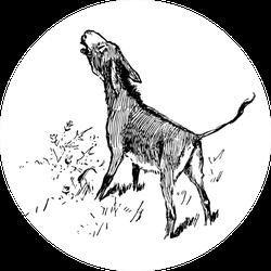 A Donkey Hee-hawing Illustration Sticker