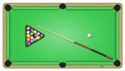 A Game In Pool Billiards Sticker
