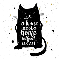A House Is Not A Home Without A Cat Sticker