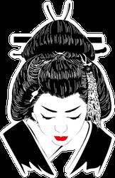 A Japanese Hostess Geisha Sticker