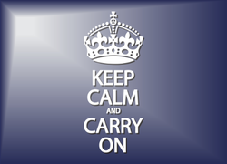 A Keep Calm And Carry On Sticker