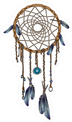A Native American Dream Catcher Sticker