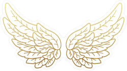 A Pair Of Golden Angel Wings Sticker