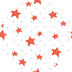 A Simple Pattern With A Repetitive Pattern Of  Starfish Sticker