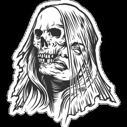 A Skeleton Of A Woman Tattoo Sticker