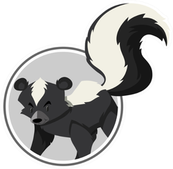 A Skunk Template Illustration Sticker