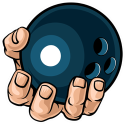 A Strong Hand Holding A Bowling Ball Sticker