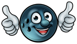 A Ten Pin Bowling Ball Cartoon Sticker