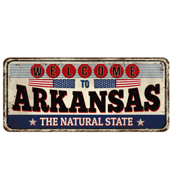 A Vintage-style Illustration Plate Welcome To Arkansas Sticker