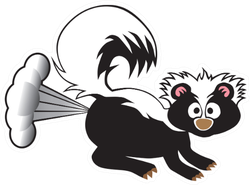 A Young Skunk Has Been Startled Into Using His Defensive Spray Sticker