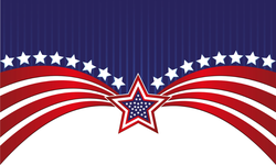 Abstract American Flag And Stars Sticker
