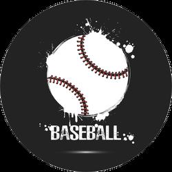 Abstract Baseball Paint Splatter Design Sticker
