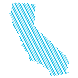 Abstract Blue Map Of California Sticker