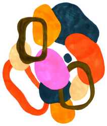 Abstract Composition Of A Modern Art Style Sticker