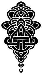Abstract Decorative Pattern In Celtic Style Sticker