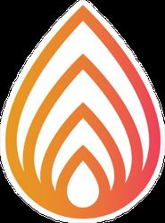 Abstract Fire Sticker