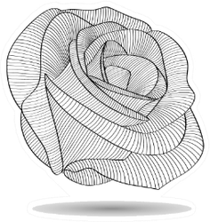 Abstract Flower Rose Floral Element Sticker