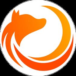 Abstract Fox Logo Sticker