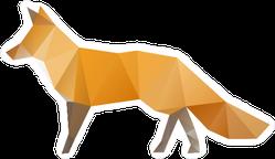 Abstract Geometric Fox Sticker