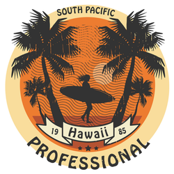Abstract Hawaii Surfer Sign Illustration Sticker