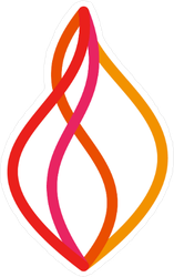 Abstract Line Fire Logo Sticker